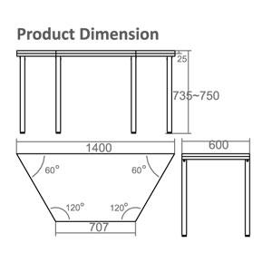 HTU-6014 Dimension