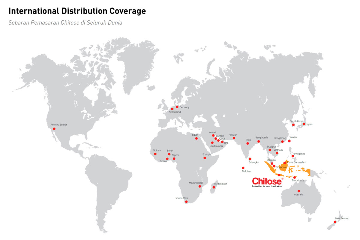 Distribusi Internasional Chitose